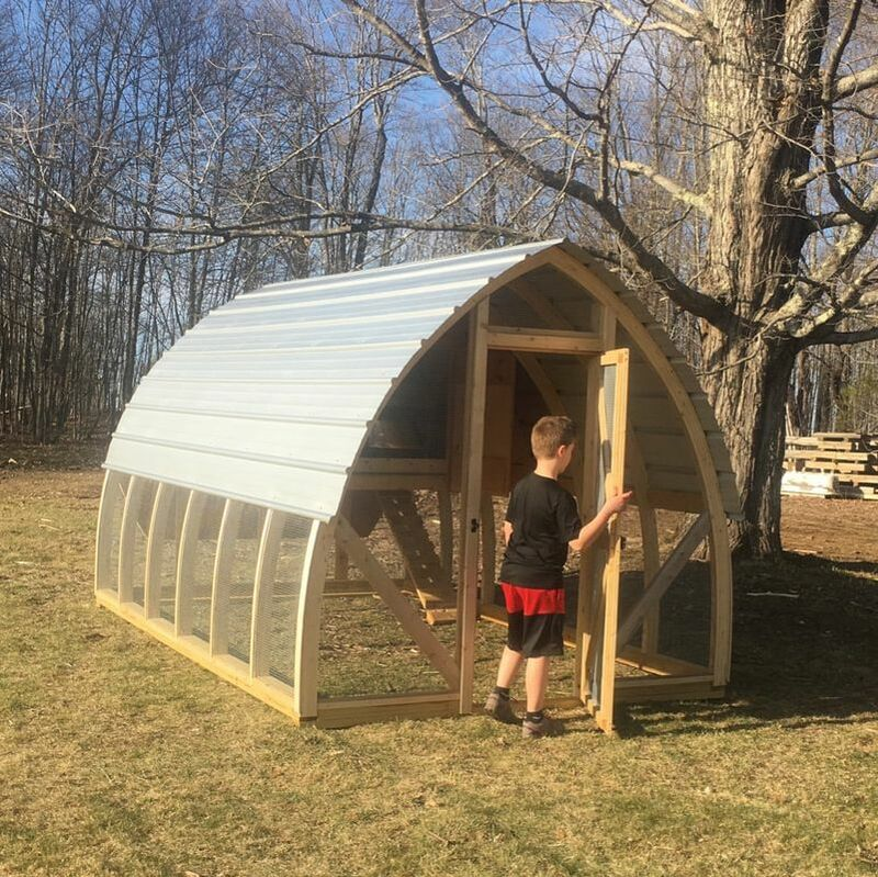 We use durable Galvalume metal roofing on all our chicken coops